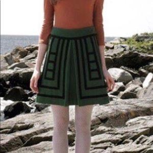 ANTHRO Maeve Wool Blend A-Line Skirt